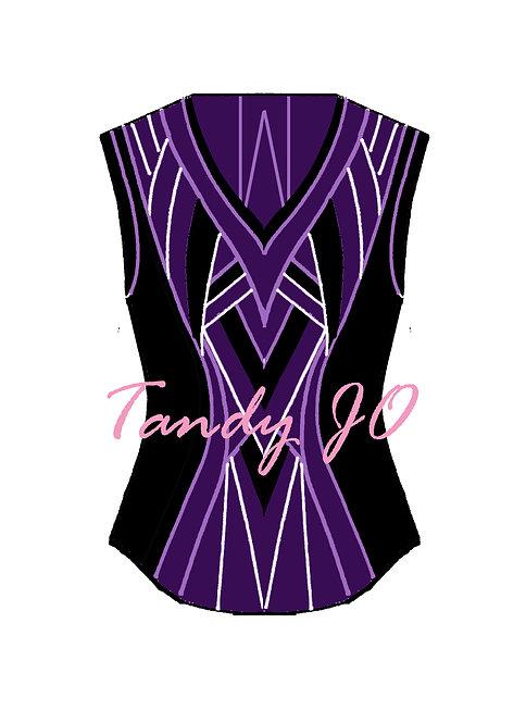 Purple - Black - Pansy Lavender - White VEST: Designer Code: BDGH