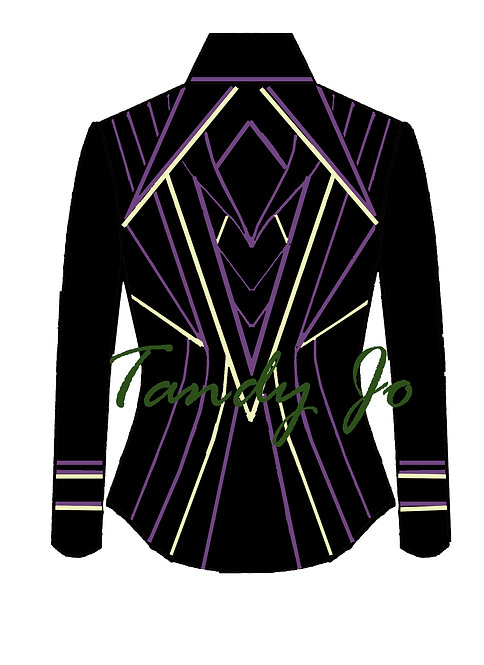 Black- Bone/cream - Wampum Purple: Designer Code:NTLS