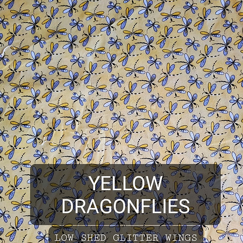 Face mask - Yellow Dragonflies - Low Shed Glitter