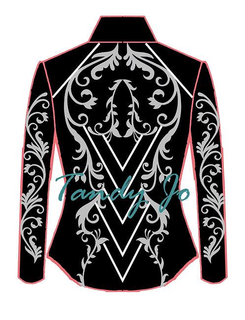 Black- White - Silver : Designer Code: BNFH