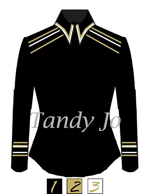 Simplistic and classy Top Collar/Cuffs/Shoulder details - Customizab
