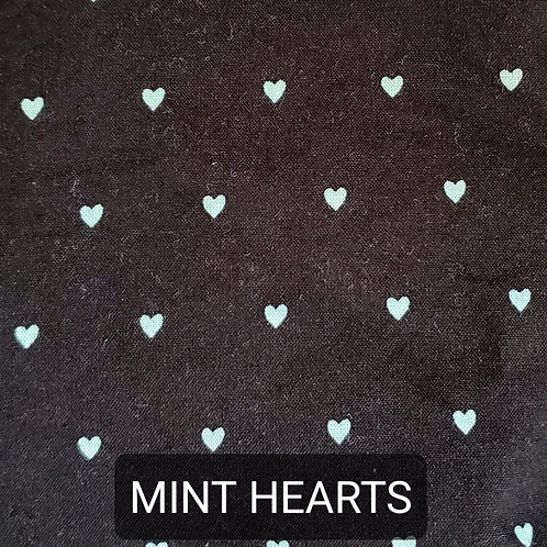 Face mask - Mint Hearts