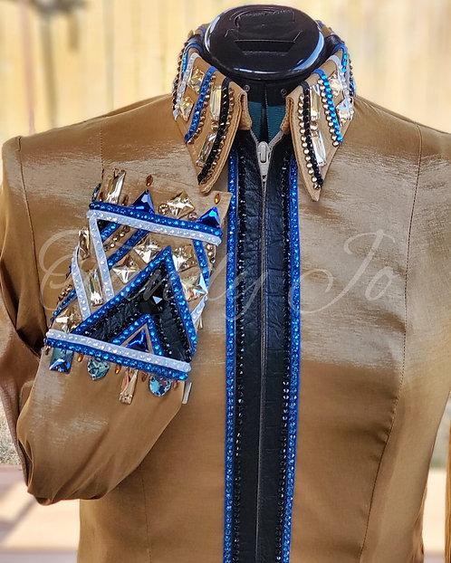 Gold Royal Blue Black White Ready to Show