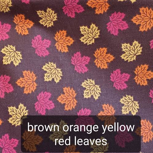 Face mask - brown orange yellow leaves