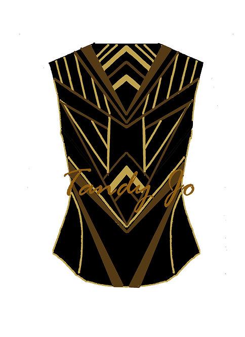 Black - Bronze - Gold VEST: Designer Code: VJHE