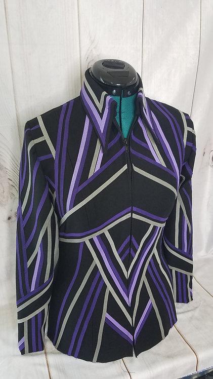 Purple grey lavender DIY jacket