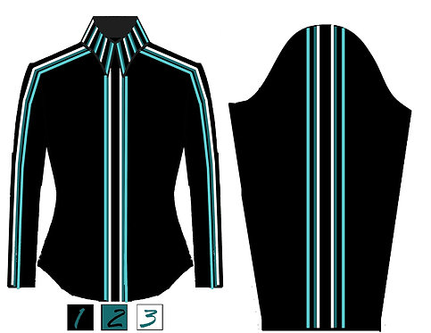 Simple Chic: Black -Teal - Turquoise - White