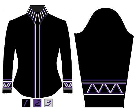 Simple Chic: Black - White - Royal Purple