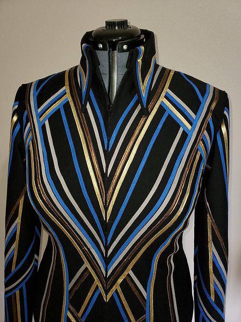 Sold custom black royal gold gray bronze jacket
