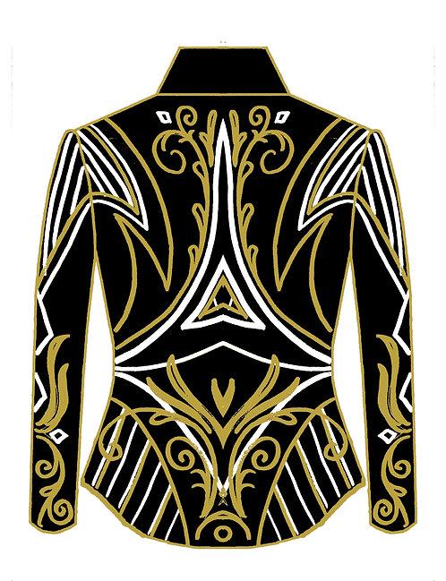 White Gold Black Jacket