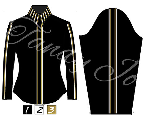 Simple Chic Top - Striped Collar/Front/Sleeve detail - Customizable