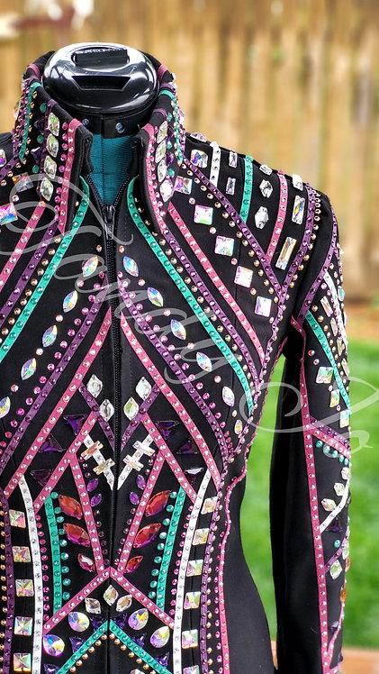 Multicolored showmanship jacket - LIKE NEW