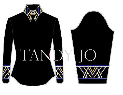 Simple Chic Top: ZZZ21 - Black, Royal Blue, White, Gold