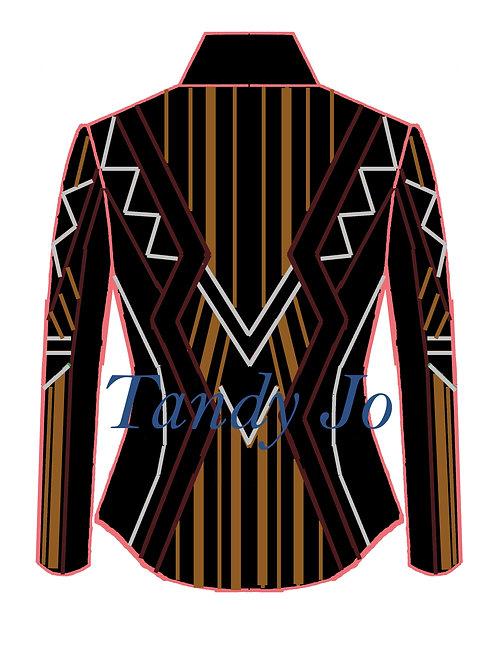 Black - Burgundy - Silver - Copper: Designer Code:VNEX