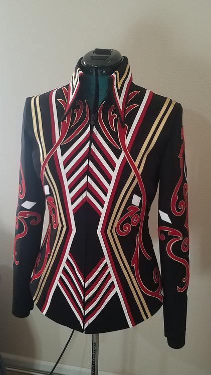 RESERVED - black red gold white jacket