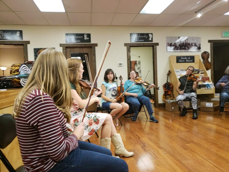 Irish fiddle group class