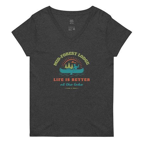 Life Better- Women's recycled v-neck t-shirt