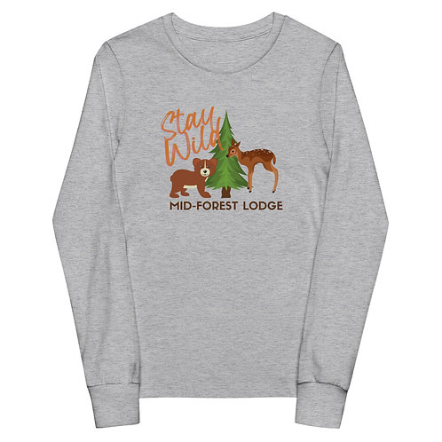 Stay Wild- Youth Long Sleeve (Sz.S-L) (Mult.Colors)