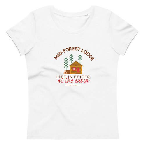 At the Cabin- Women's Fitted Eco Tee
