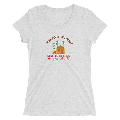 At the Cabin-Ladies' Tee