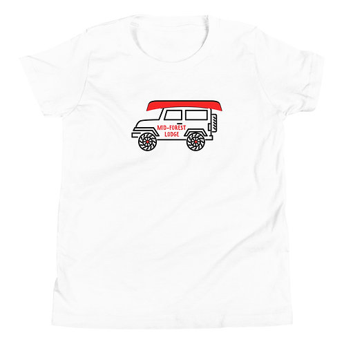 Jeep-Youth Tee (Sz. S-XL) (Mult.Colors)