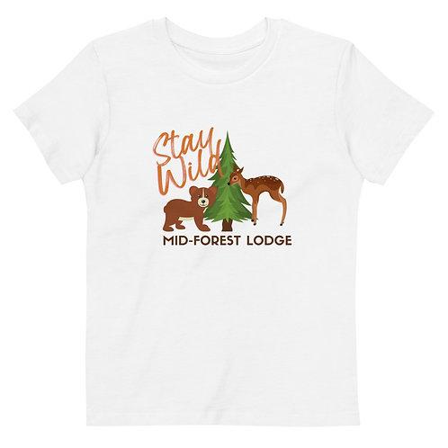 Stay Wild-Organic Kids Tee (Sz 3-14) (Mult.Colors)