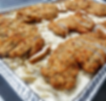 catering - penne alfredo with chicken tr