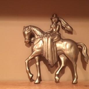 Side Saddle Statue