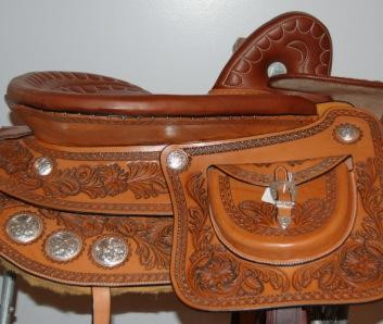 Steele Wild Rose Western Show Saddle.
