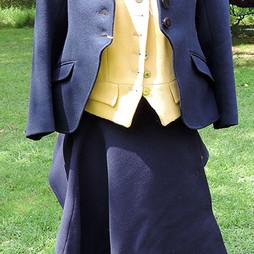 HA1003 Child's Caldene navy wool habit (jacket, apron, vest)