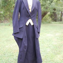 HA1000 Heavy black wool twill (jacket, apron, false vest)