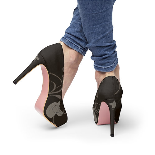 Side Saddle Platform Heels
