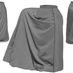 TV Full Riding Skirt Pattern