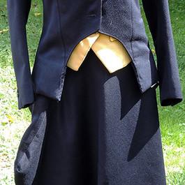 HA1004 Child's unmarked very dark navy wool twill habit (jacket, apron, vest)