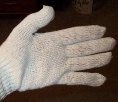 Knit String Gloves
