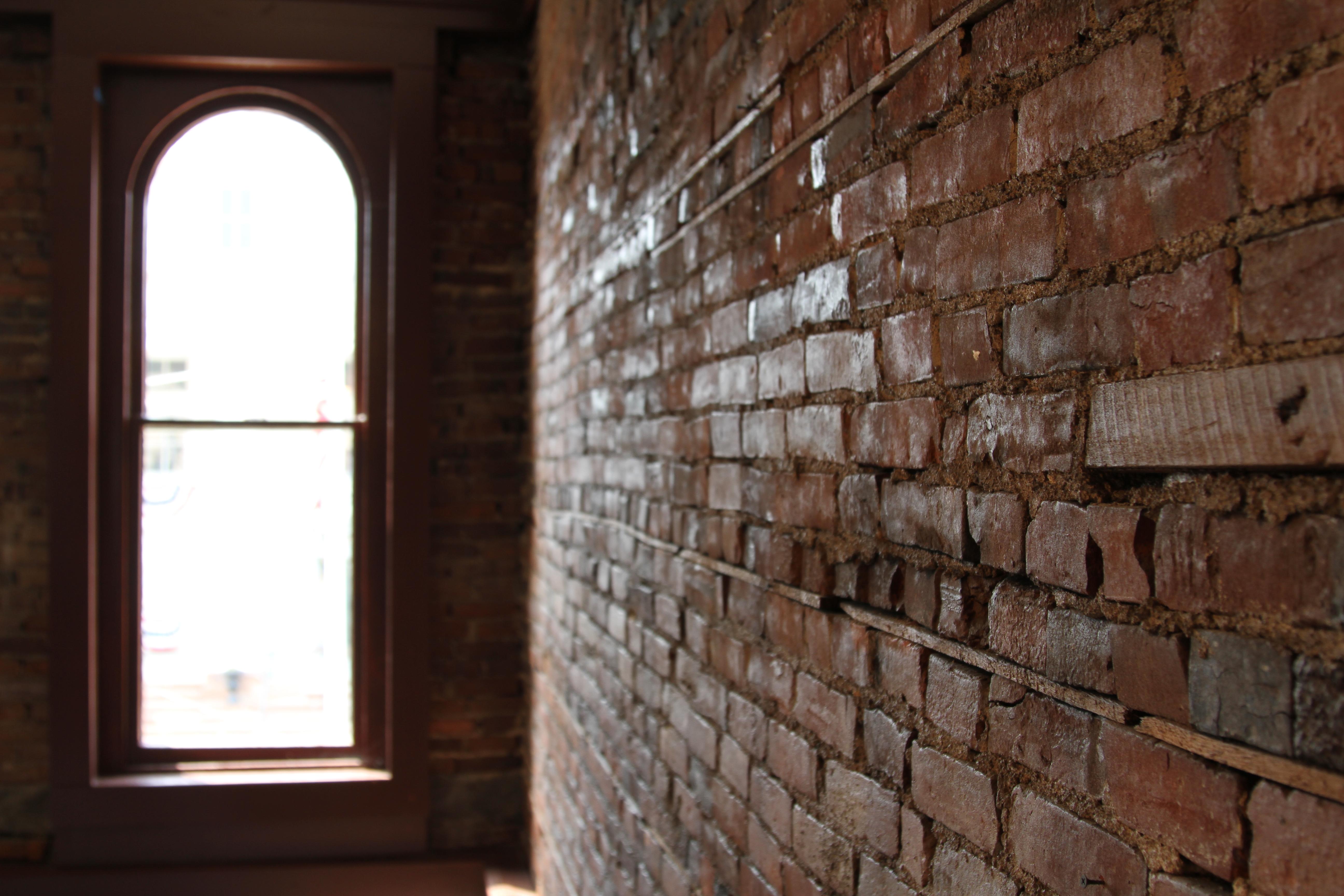 1800 Square Foot Studio. orig brick