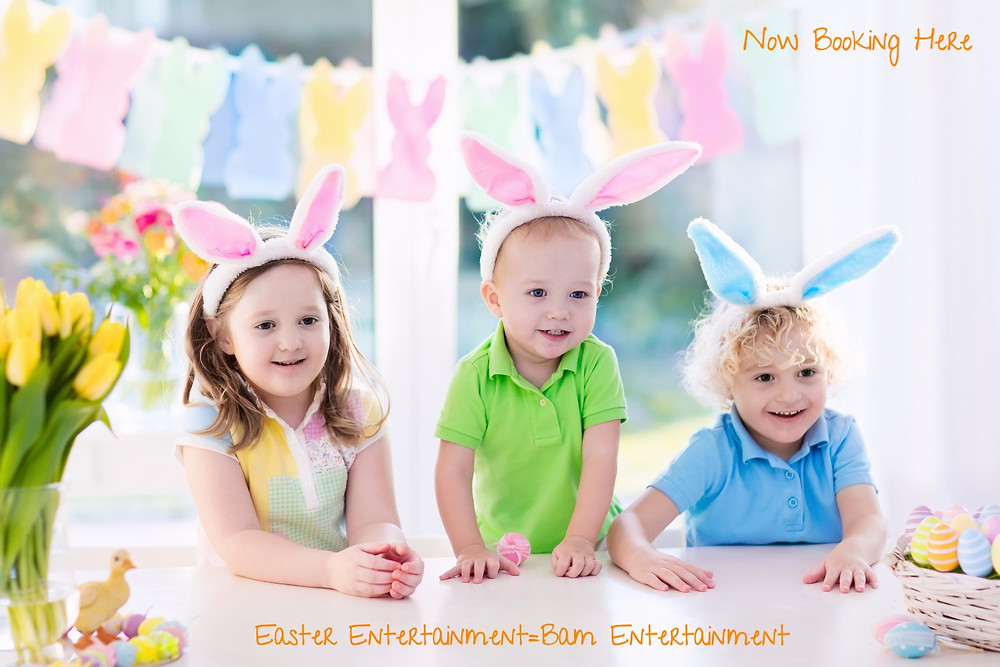 It's not too late to book an Easter bunny, Balloon Twister, Stilt-Walker, Photo Booth and more!