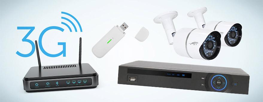 IP или HDCVI камеры, регистратор, роутер, модем 3G