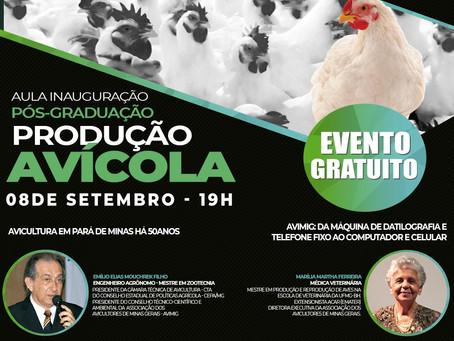 Aula inaugural da Pós-graduação em Produção Avícola contará com palestras online.Confira!