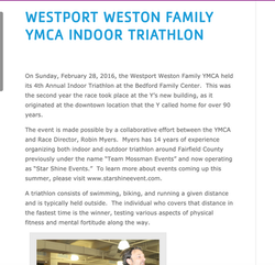 1st place YMCA Indoor Tri