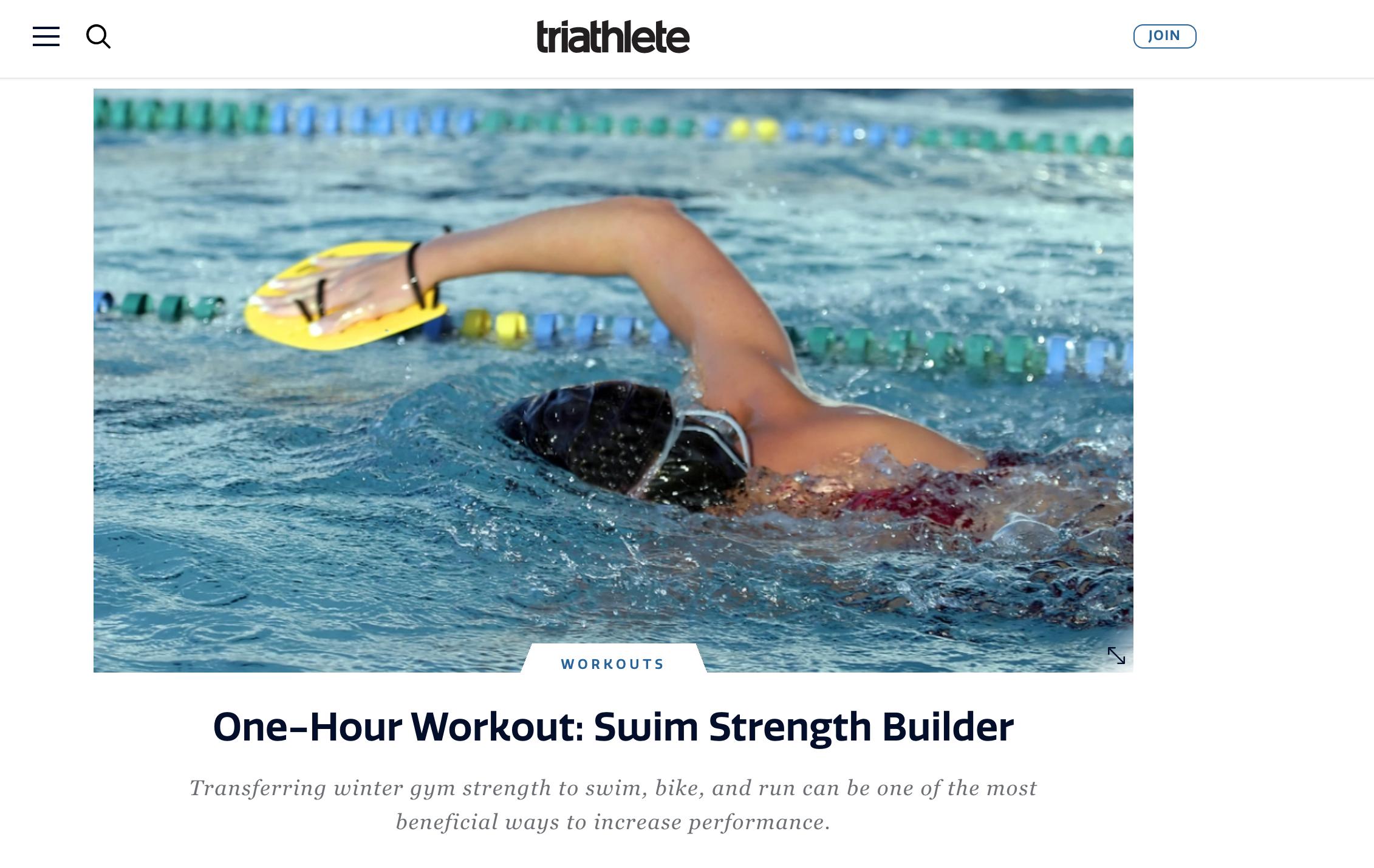 Article in Triathlete Magazine