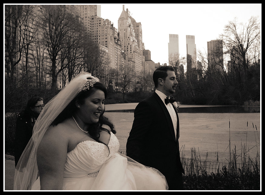 New Years Eve Bride in Central Park