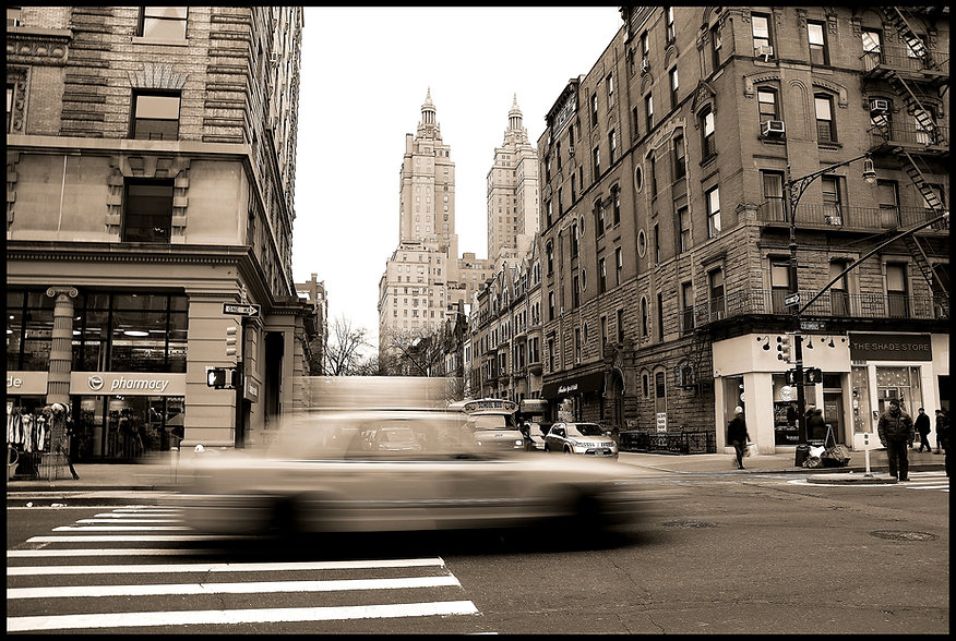 Steven Swancoat Photography: Taxi on Columbus Ave
