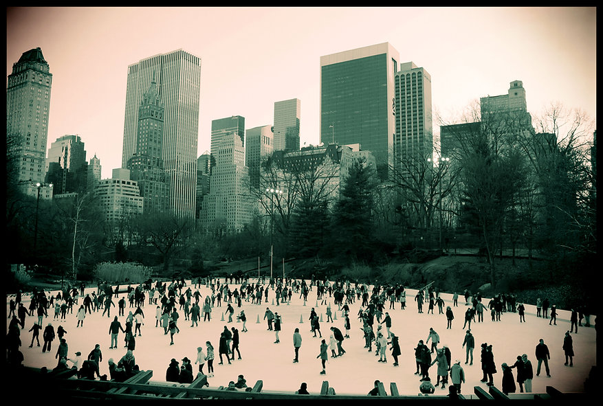 Ice Skating in Central Park, Trump Rink