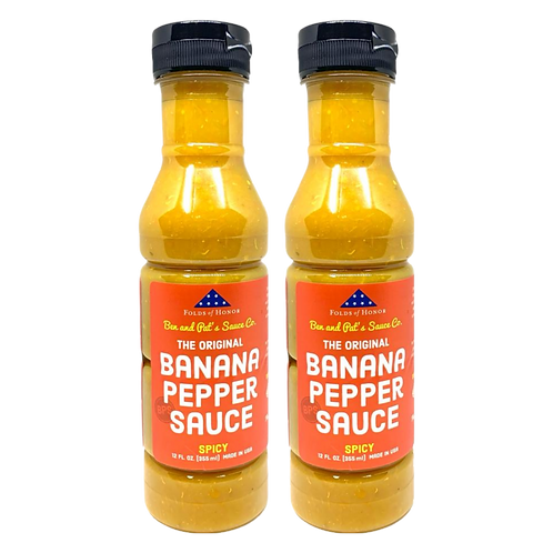 2-Pack Banana Pepper Sauce - Spicy Original (Shipping Included)