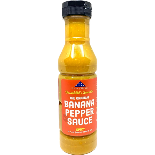 Banana Pepper Sauce - Spicy Original (Shipping Included)