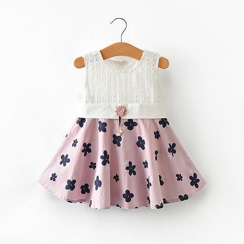 Pink Gored Skirt