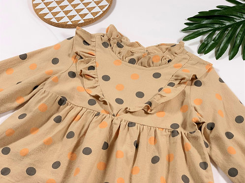 Country style dress with dots