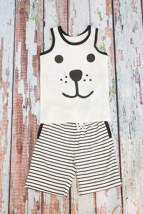 Bear Design Tank and Shorts Set