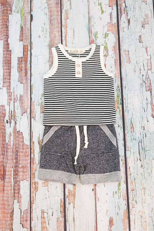 Simple Style Tank and Shorts Set